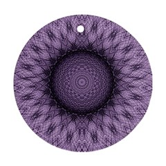 Mandala Round Ornament (two Sides) by Siebenhuehner