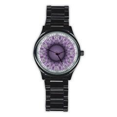 Mandala Sport Metal Watch (black) by Siebenhuehner
