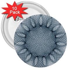 Mandala 3  Button (10 Pack) by Siebenhuehner