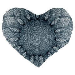 Mandala 19  Premium Heart Shape Cushion by Siebenhuehner
