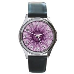 Mandala Round Metal Watch (silver Rim) by Siebenhuehner