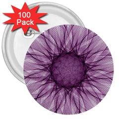 Mandala 3  Button (100 Pack) by Siebenhuehner