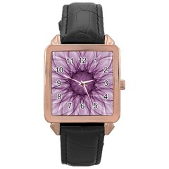 Mandala Rose Gold Leather Watch  by Siebenhuehner