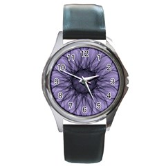 Mandala Round Metal Watch (silver Rim) by Siebenhuehner