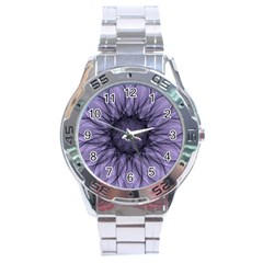 Mandala Stainless Steel Watch (men s) by Siebenhuehner