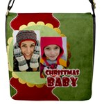 mery christmas - Flap closure messenger bag (Small)