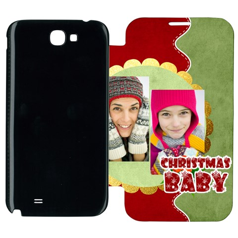 Merry Christmas By Merry Christmas   Samsung Galaxy Note 2 Flip Cover Case   Qymr2qsyuypr   Www Artscow Com Front