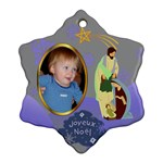 Nativity snowflake ornament, 2 sides - Snowflake Ornament (Two Sides)