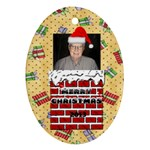 Santa oval ornament - Ornament (Oval)