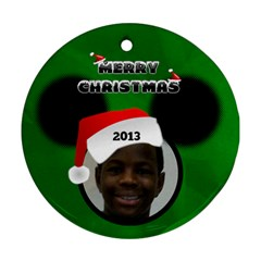 Mickey Mouse Ornament, 2 Sides By Joy Johns   Round Ornament (two Sides)   92ytb5mu4zzk   Www Artscow Com Front