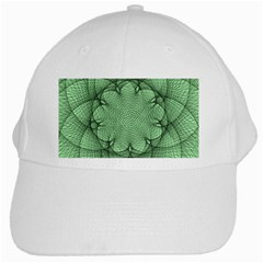 Spirograph White Baseball Cap by Siebenhuehner