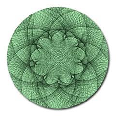 Spirograph 8  Mouse Pad (round) by Siebenhuehner