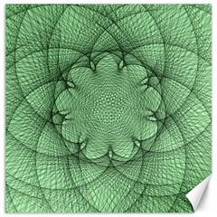 Spirograph Canvas 16  X 16  (unframed) by Siebenhuehner