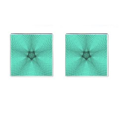 Spirograph Cufflinks (square) by Siebenhuehner