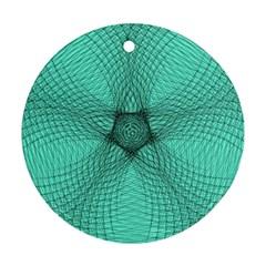 Spirograph Round Ornament (two Sides) by Siebenhuehner