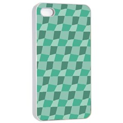 Aqua Apple Iphone 4/4s Seamless Case (white)