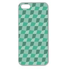 Aqua Apple Seamless Iphone 5 Case (clear)