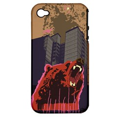 Urban Bear Apple iPhone 4/4S Hardshell Case (PC+Silicone) by Contest1738792
