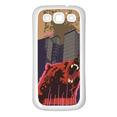 Urban Bear Samsung Galaxy S3 Back Case (white) by Contest1738792