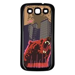 Urban Bear Samsung Galaxy S3 Back Case (black) by Contest1738792