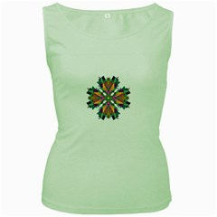 Modern Art Womens  Tank Top (green) by Siebenhuehner