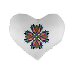 Modern Art 16  Premium Heart Shape Cushion  by Siebenhuehner