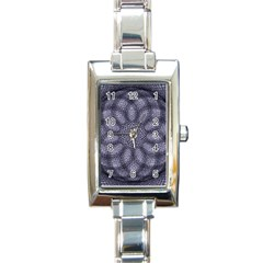 Spirograph Rectangular Italian Charm Watch by Siebenhuehner