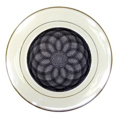 Spirograph Porcelain Display Plate by Siebenhuehner