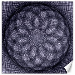 Spirograph Canvas 12  X 12  (unframed) by Siebenhuehner