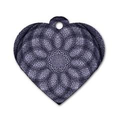 Spirograph Dog Tag Heart (one Sided)  by Siebenhuehner