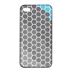 Hexagon Waves Apple Iphone 4/4s Seamless Case (black)