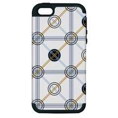 Circle Connection Apple Iphone 5 Hardshell Case (pc+silicone) by ContestDesigns