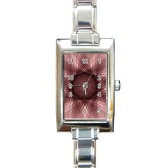 Spirograph Rectangular Italian Charm Watch by Siebenhuehner