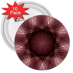 Spirograph 3  Button (10 Pack) by Siebenhuehner