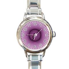 Spirograph Round Italian Charm Watch by Siebenhuehner