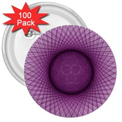 Spirograph 3  Button (100 Pack) by Siebenhuehner