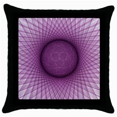 Spirograph Black Throw Pillow Case by Siebenhuehner