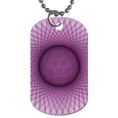 Spirograph Dog Tag (one Sided) by Siebenhuehner