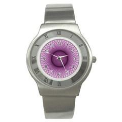 Spirograph Stainless Steel Watch (unisex) by Siebenhuehner