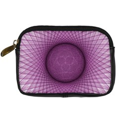 Spirograph Digital Camera Leather Case by Siebenhuehner