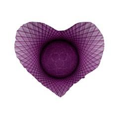 Spirograph 16  Premium Heart Shape Cushion  by Siebenhuehner