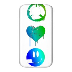 Peace Love And Happiness Samsung Galaxy S4 Classic Hardshell Case (pc+silicone)