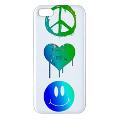 Peace Love And Happiness Iphone 5s Premium Hardshell Case