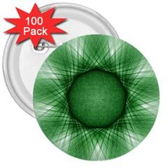 Spirograph 3  Button (100 Pack) by Siebenhuehner