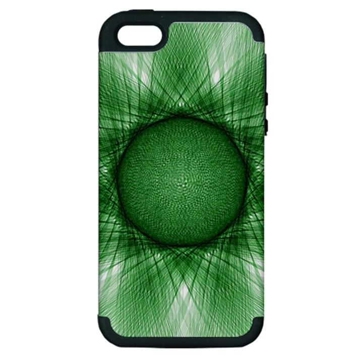 Spirograph Apple iPhone 5 Hardshell Case (PC+Silicone)