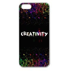 Creativity  Apple Seamless Iphone 5 Case (clear) by TheTalkingDead