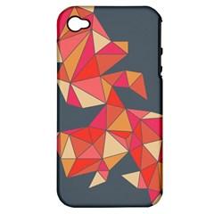 Angular Apple iPhone 4/4S Hardshell Case (PC+Silicone)
