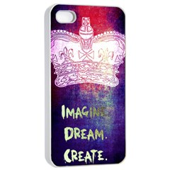 Imagine  Dream  Create  Apple Iphone 4/4s Seamless Case (white) by TheTalkingDead