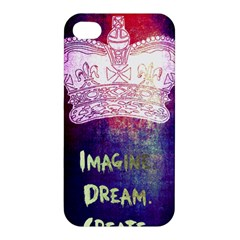 Imagine  Dream  Create  Apple Iphone 4/4s Premium Hardshell Case