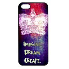 Imagine  Dream  Create  Apple Iphone 5 Seamless Case (black) by TheTalkingDead